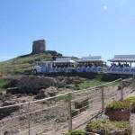 Percorso lungo la recinzione dell'Area Archeologica di Tharros